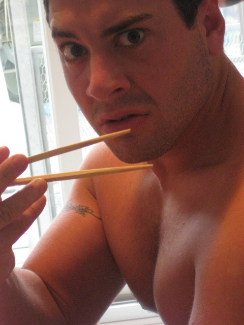 chopsticks (plus my cousin Josh) ...