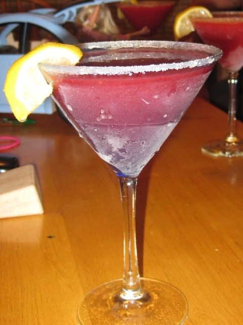 verrrrrrrrry strong strawberry martini (to dull the pain)