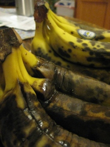 bananas BEFORE ... not appetizing, I know