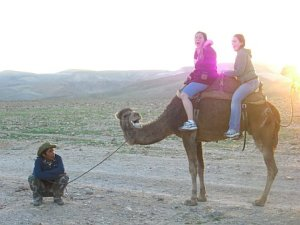 Shaina and me riding a camel